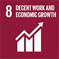 <h3>GOAL 8</h3> <p>Decent work and economic growth</p>
